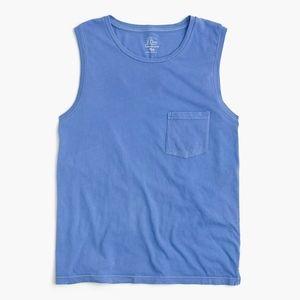 J. Crew Garment Dyed Blue Muscle Tank sz.Small